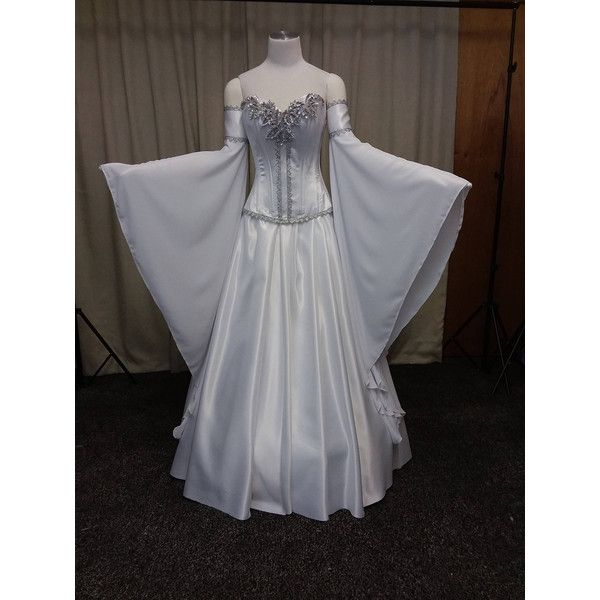Pin By Kay On My Polyvore Finds Elven Wedding Dress Bridesmaid