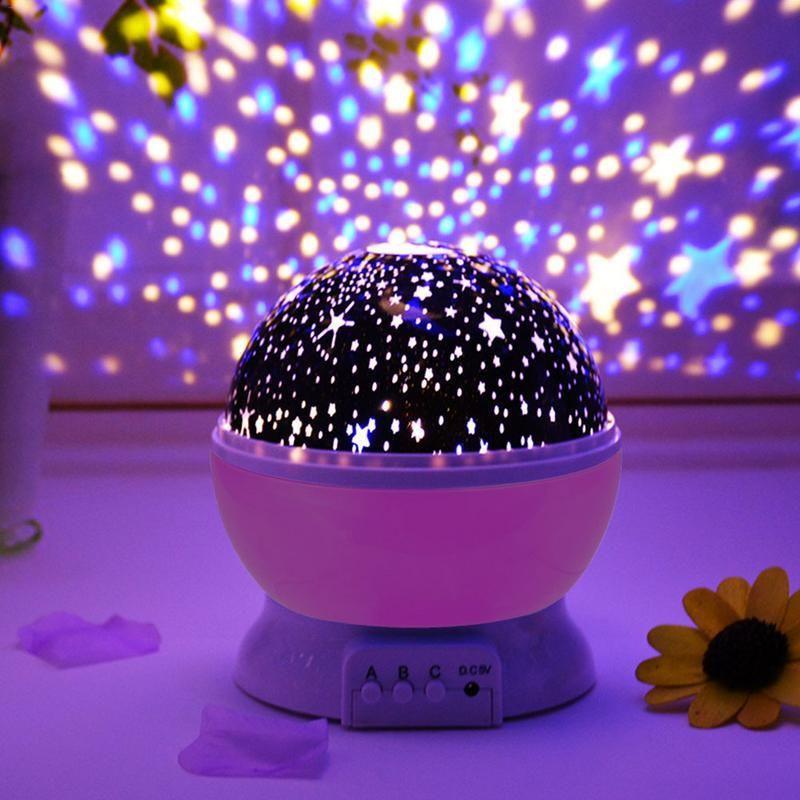 Star Sky Night Light Led Rotating Projector Novelty Lighting