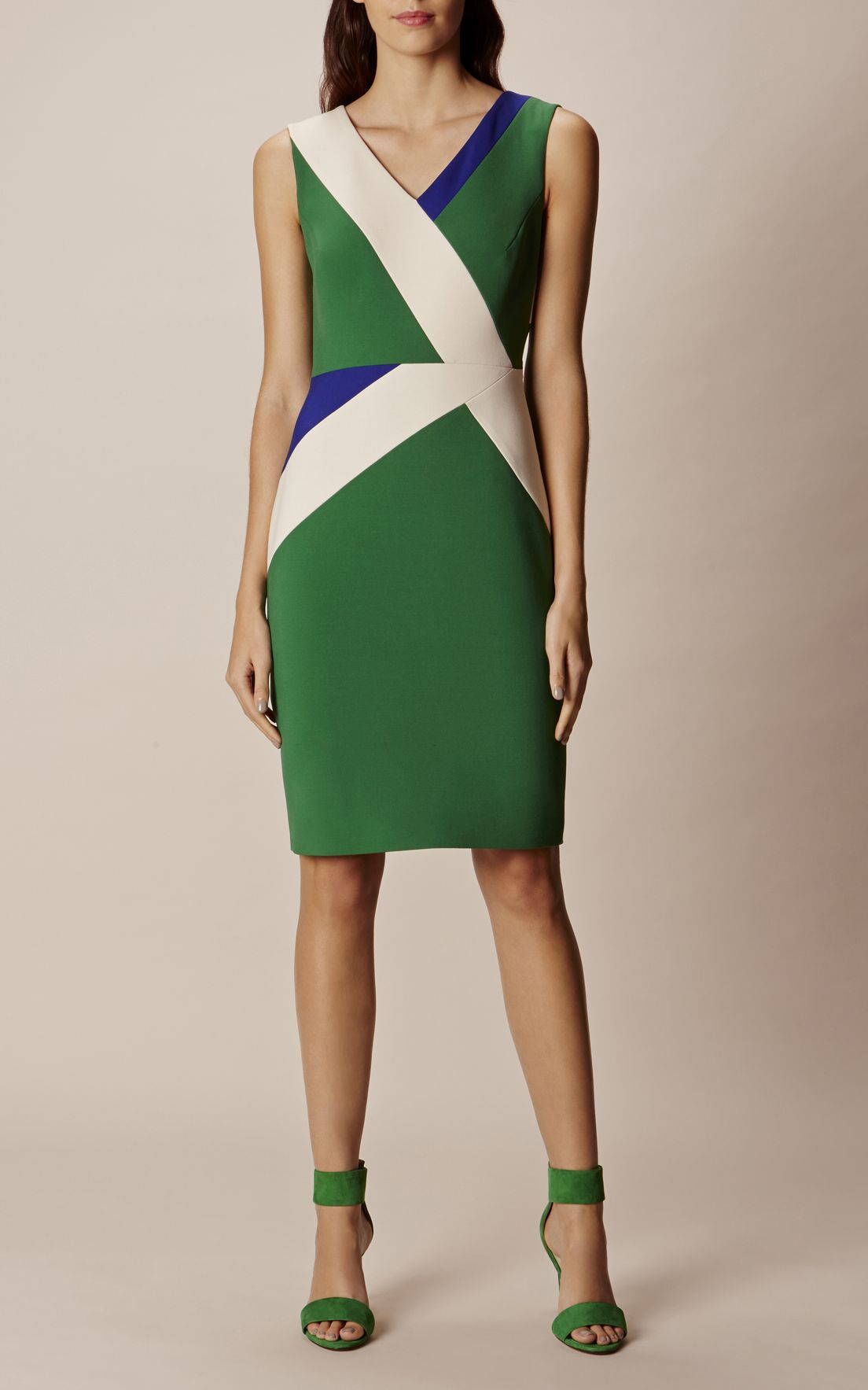 b92273db1a Karen Millen, COLOUR BLOCK PENCIL DRESS Multicolour | trajes in 2019 ...
