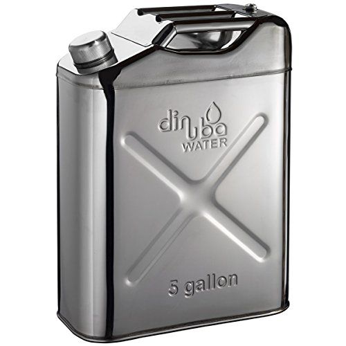 Dinuba Water 5 Gallon Stainless Steel Jerry Can Dinuba Water Https Www Amazon Com Dp B01mef6rwi Ref Cm Sw R Pi Dp X Dqwyzbw Water Containers Jerry Can Dinuba
