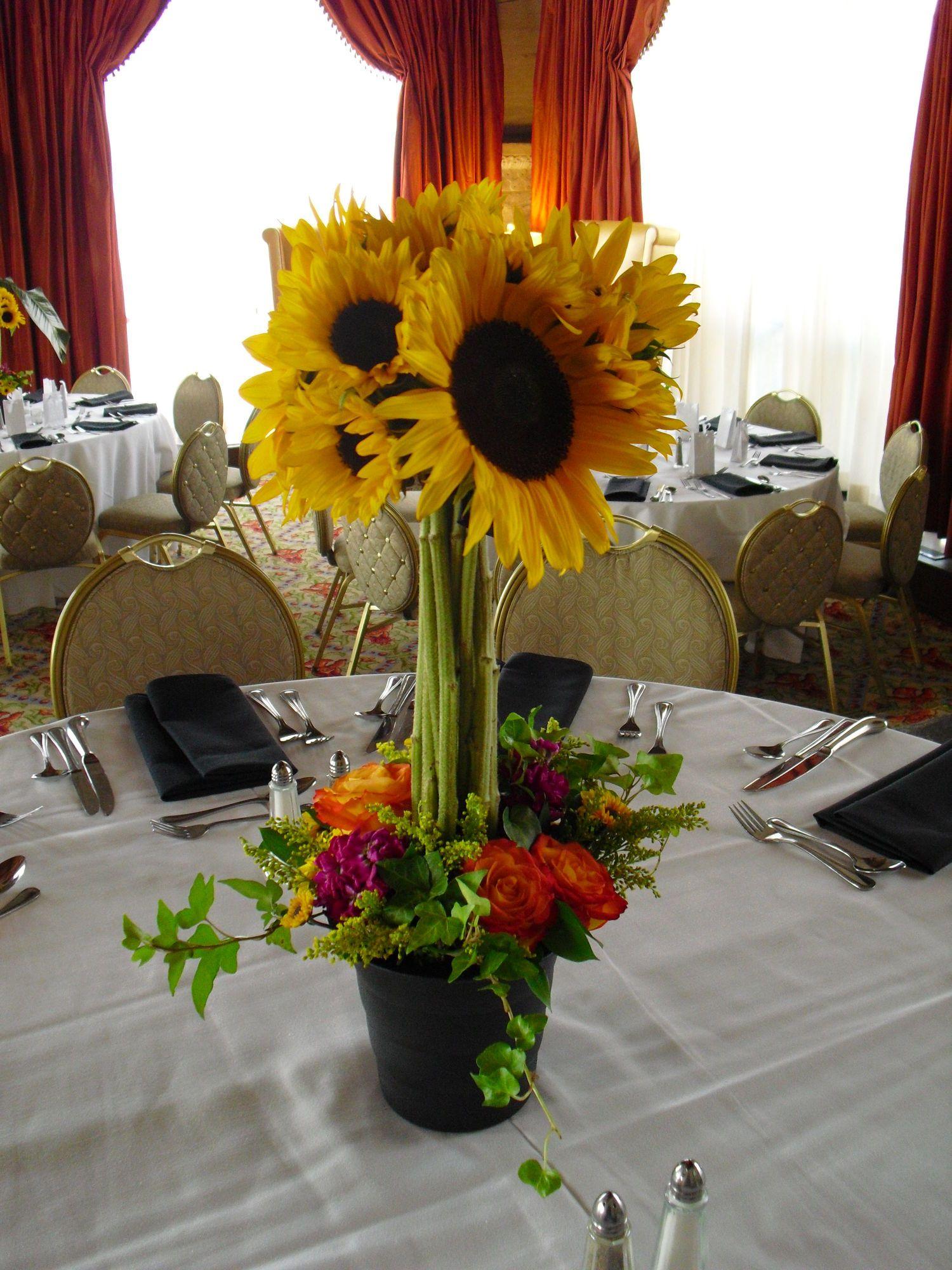 Sungur Wedding reception centerpieces Sunflower
