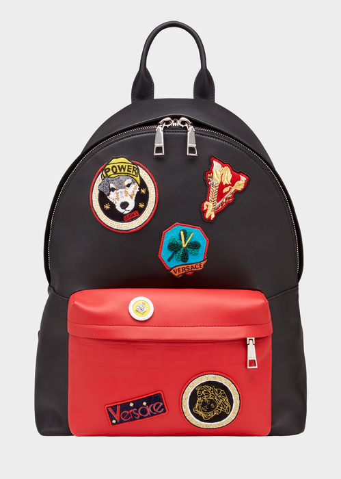 f0f9f7bed0 Versace Audrey Patch Backpack for Men | US Online Store. Audrey ...