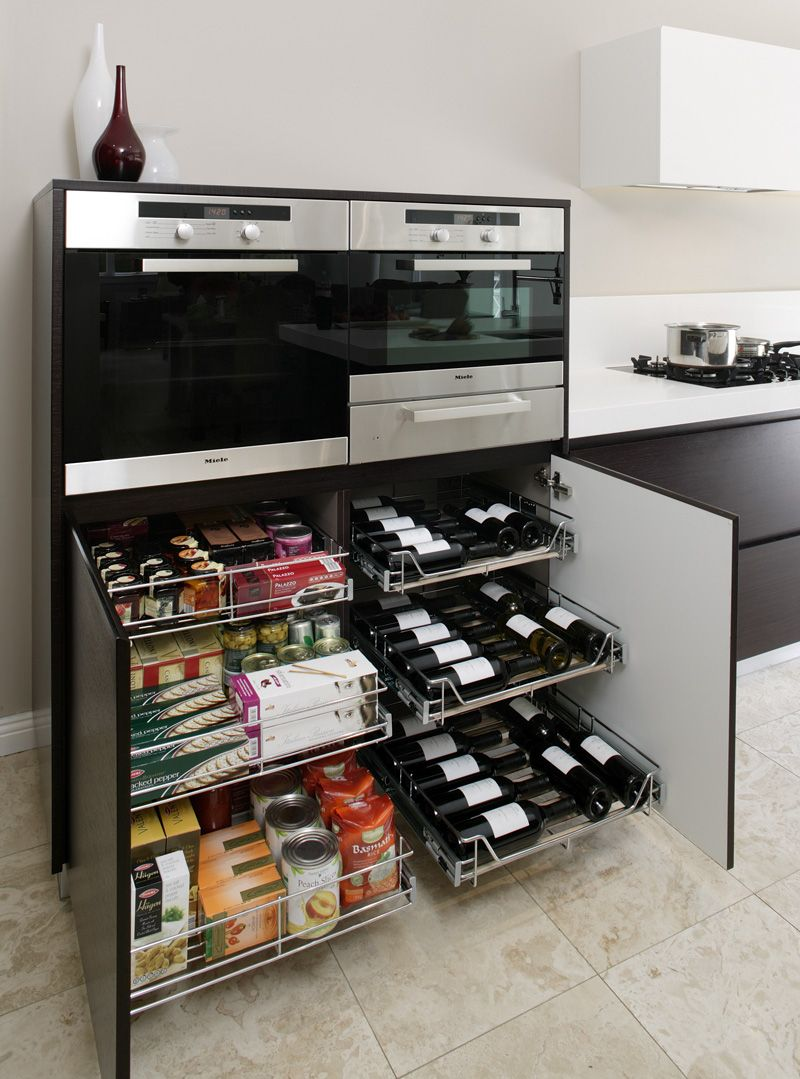 TANSEL KITCHEN STORAGE: Under Bench Pull Out Wire Baskets