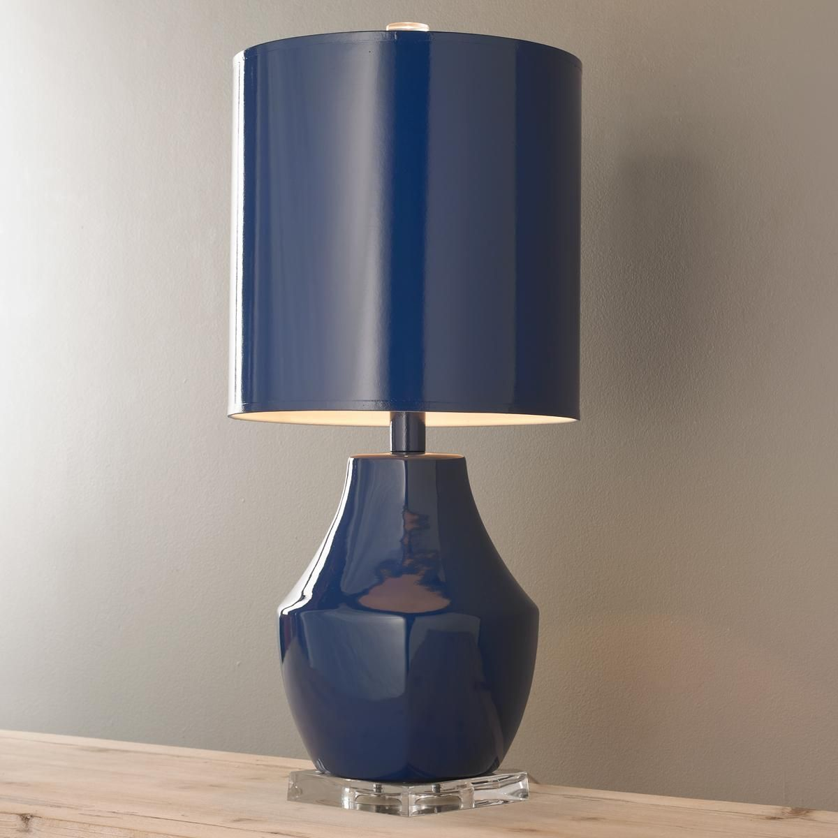 Modern One Color Ceramic Table Lamp