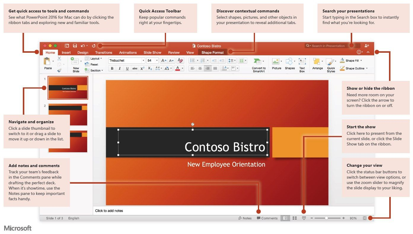 PowerPoint 2016 for Mac Quick Start Guide Microsoft