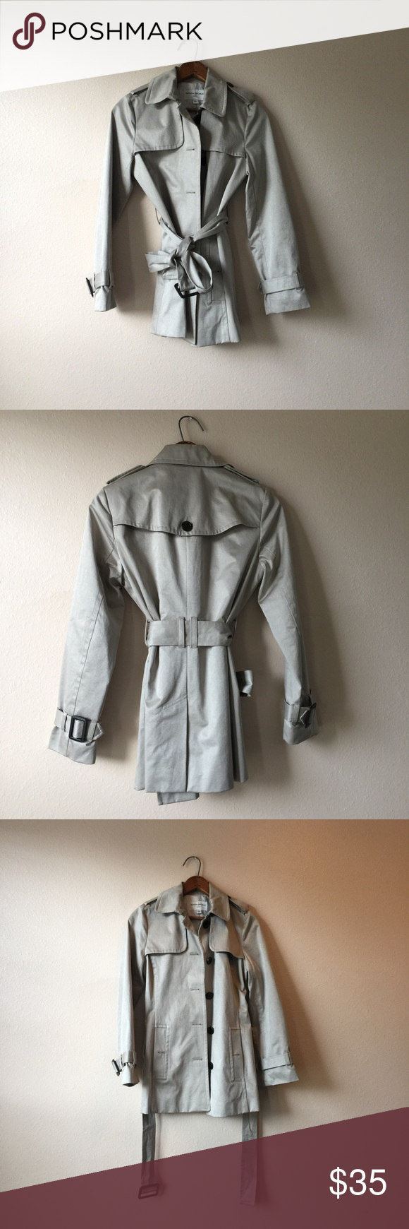 Banana Republic Trench Coat Size XS Banana Republic Trench