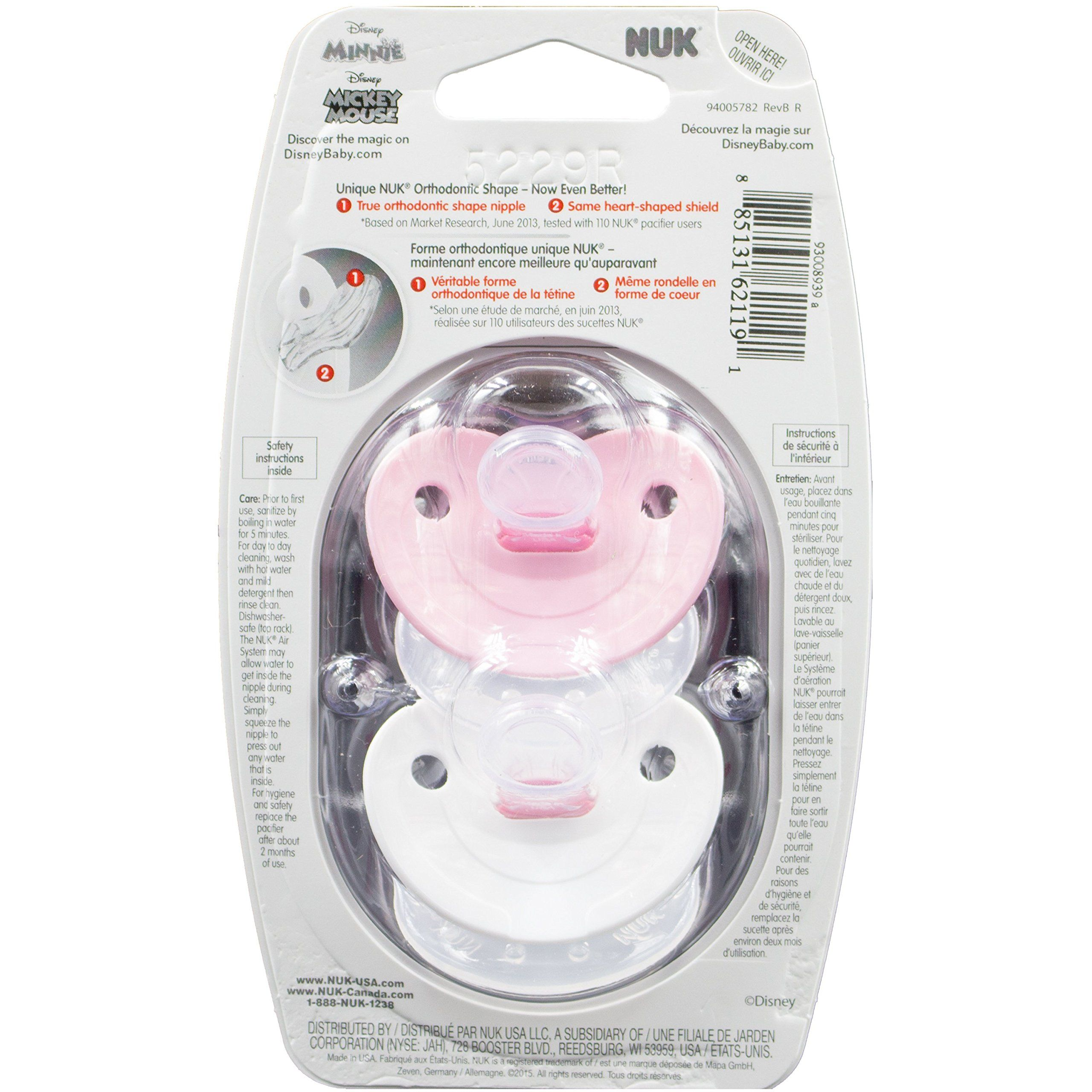 NUK Pacifiers Orthodontic Size 1 Assorted Colors 2 Each