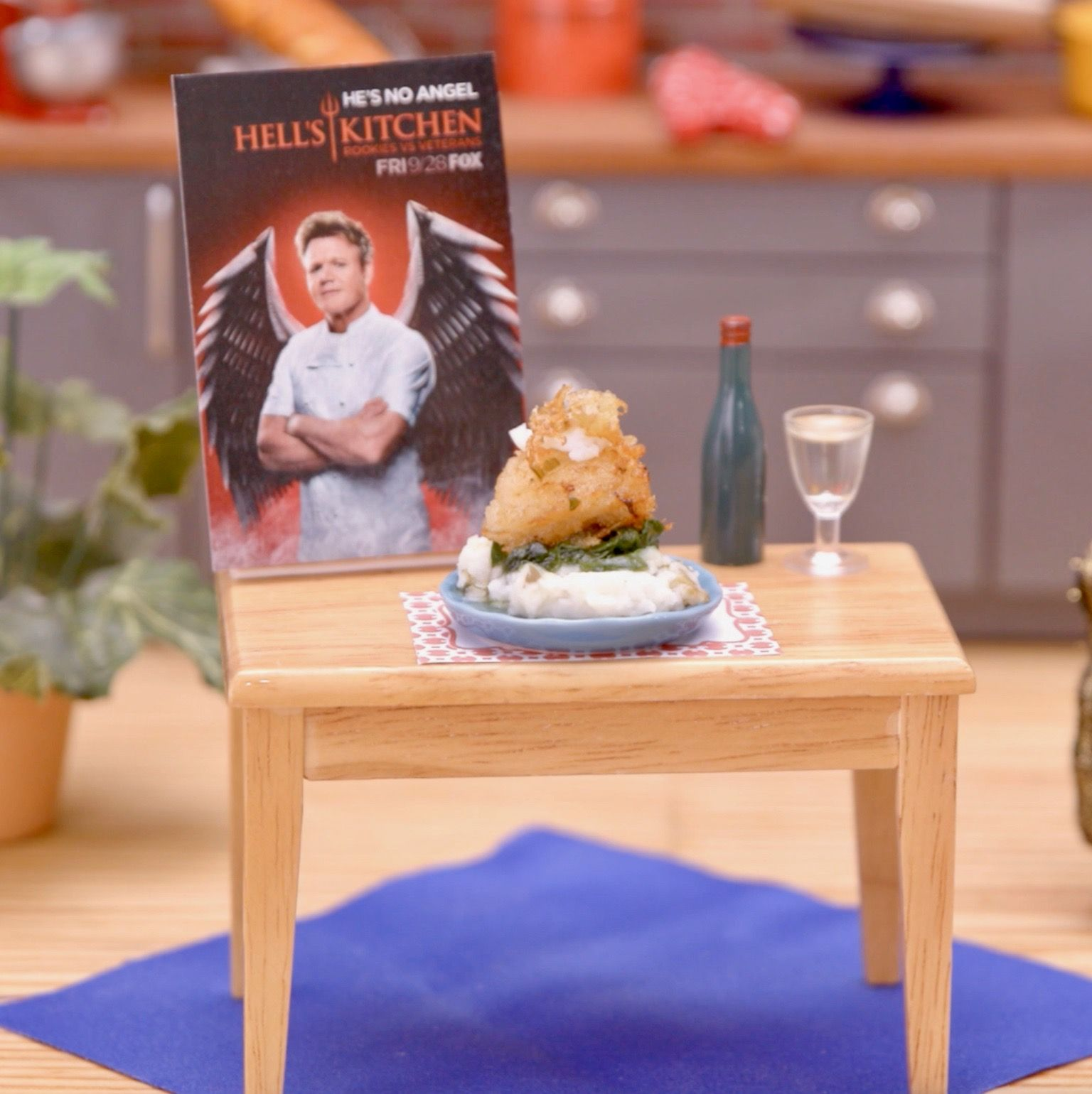 Snack on this bite-sized Hell's Kitchen helping courtesy of Tastemade, before the season premiere tonight at 9/8c on FOX! ???? #tinykitchens