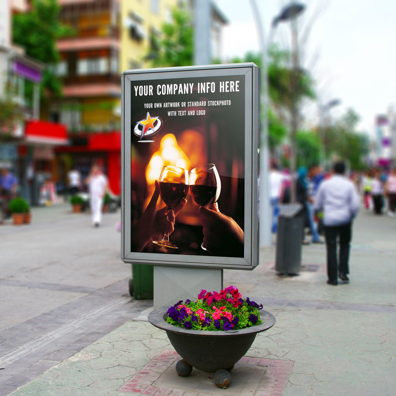 Uw reklame te zien op een van de bekende JC Decaux borden in de stad. U heeft in elk geval al een idee van uw campagne