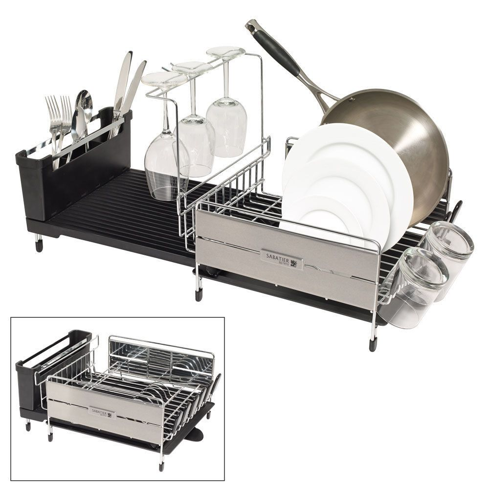 Sabatier Dish Rack Awesome Sabatier Expandable Dish Rack #sabatier  Ideas  Pinterest  Dish Design Decoration
