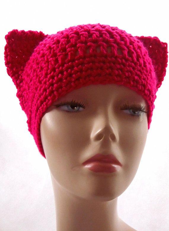 Cat Ears Hat Pattern, Crochet Hat Pattern, Cat Hat ...