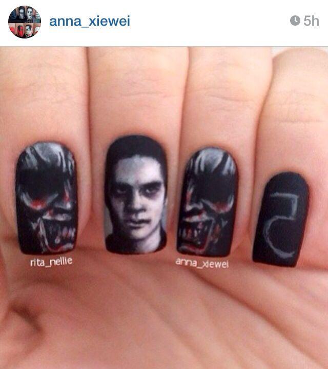 Teen wolf nails | nails | Pinterest | Uñas pintadas, Foto arte y ...
