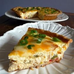 Sour Cream Chicken Quiche Recipe Allrecipes Com Yay Something For Leftover Chicken I Would Omit The Crust And Sour Cream Chicken Chicken Quiche Recipes