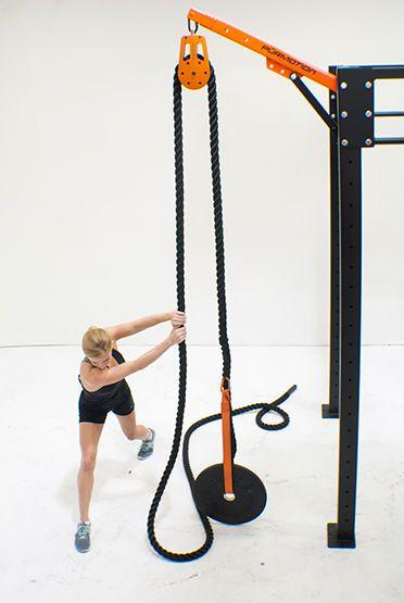 Risultati immagini per power rack with pulley rope ropeflex