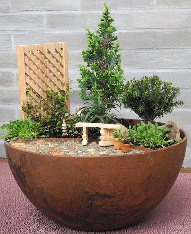Cómo hacer un jardín en miniatura e imágenes de algunos preciosos - como hacer una jardinera