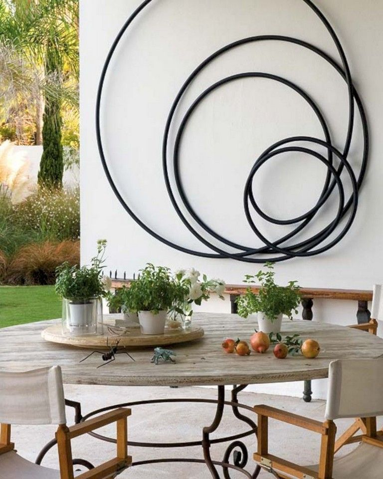 50 Staggering Modern Wall Art Decoration Ideas Outdoor Metal Wall Art Outdoor Wall Art Patio Wall Art