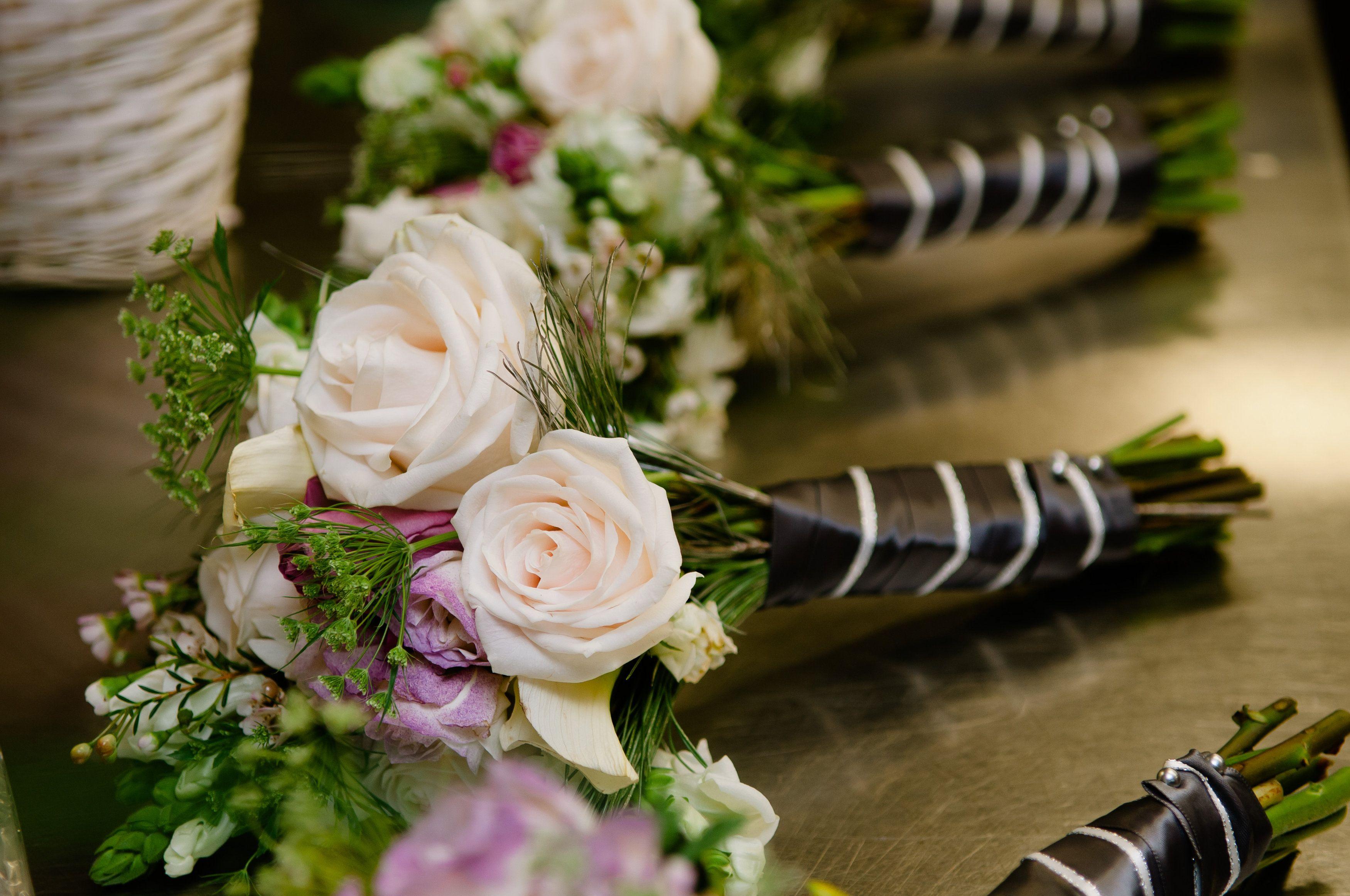 #BridesmaidBouquet #WeddingFlowers #WinterWedding See more pictures at http://eileenkphoto.com/2014/01/kelsijoe-married-minneapolis-boulevard-hotel/