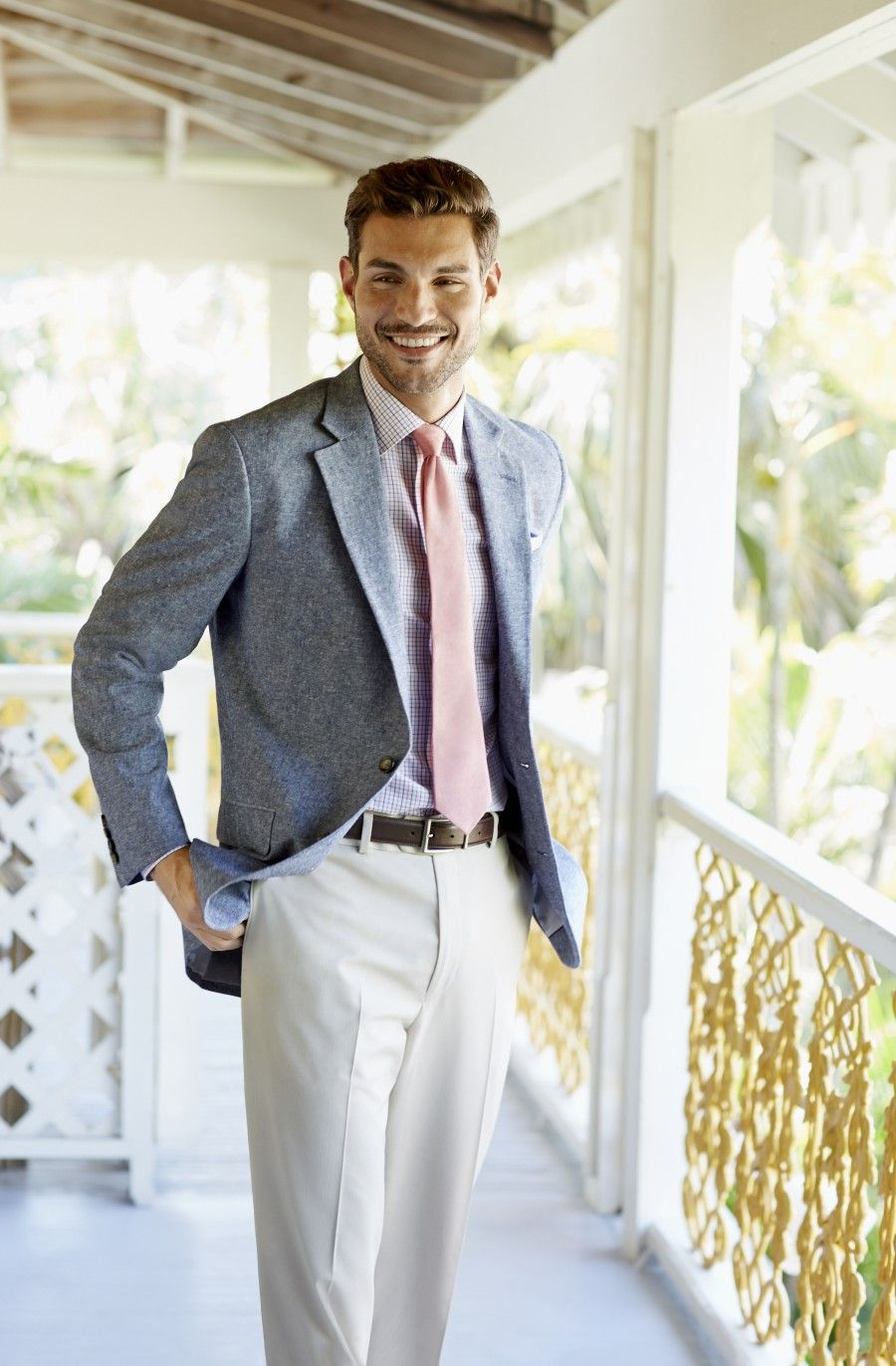 linen sport coat... a spring trend that's easy to blend