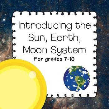 Sun Earth Moon System Science High School Pinterest