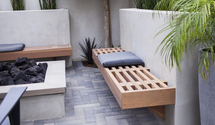 stucco bench - Google Search