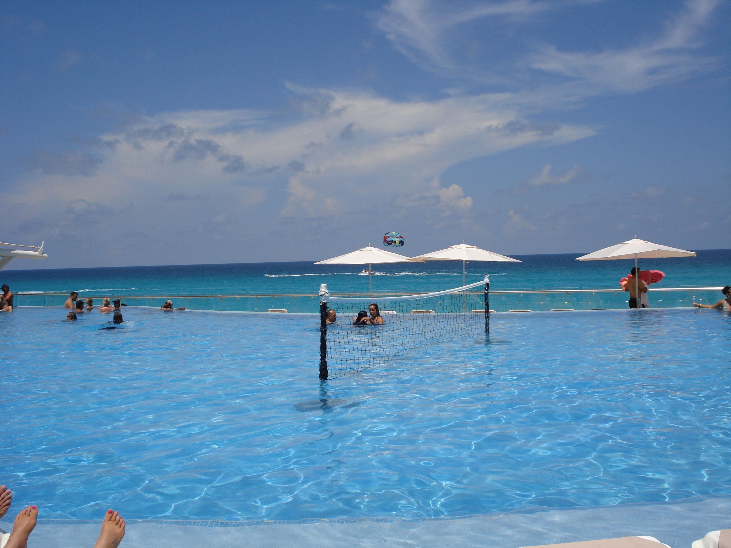view from the pool Cancun  Vacation spots Beach fun