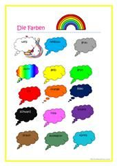 Lied Fur Die Farben Farben Farben Lernen Und Arbeitsblatter