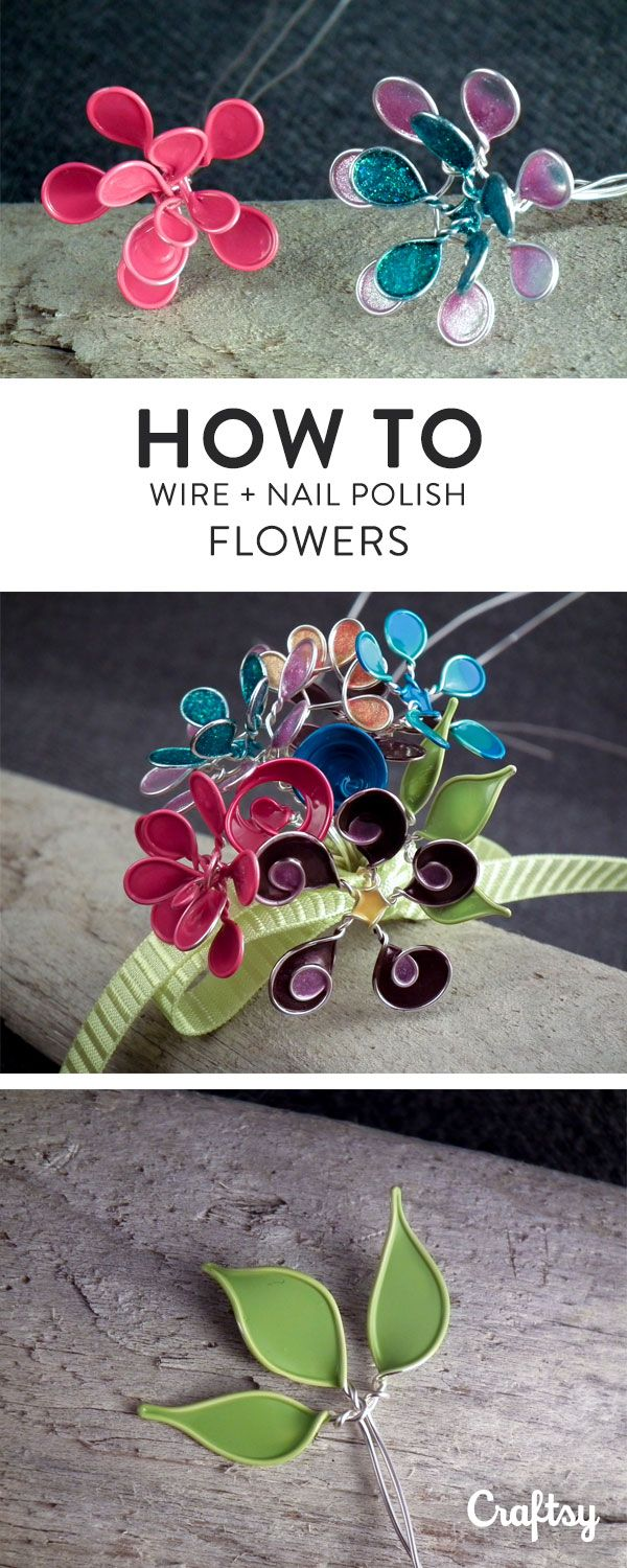 Create beautiful wire nail polish flowers in 4 simple steps wire learn how to perfect this technique and create wonderful nail polish wire flowers for your jewelry izmirmasajfo