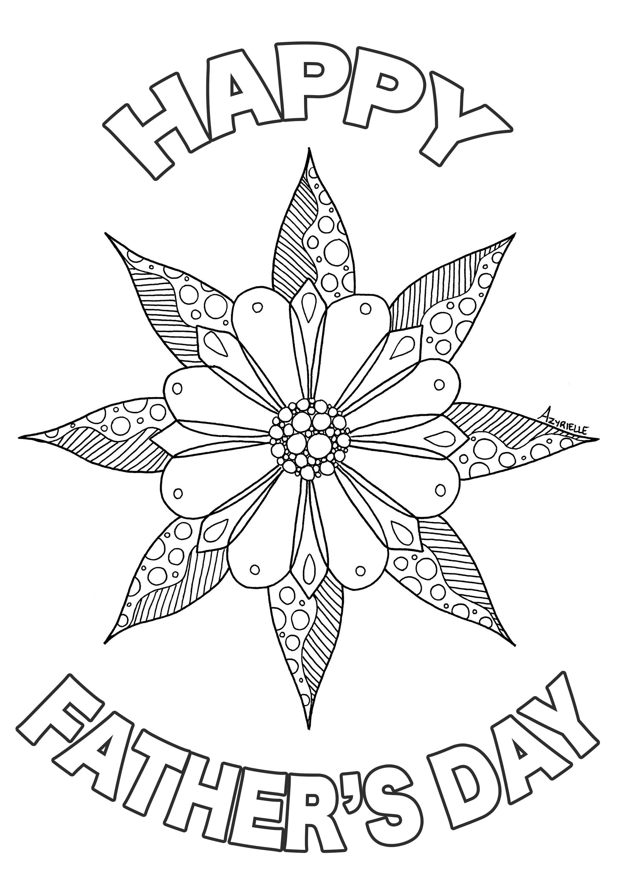 Father S Day Flower Father Fathers Day Coloring Page