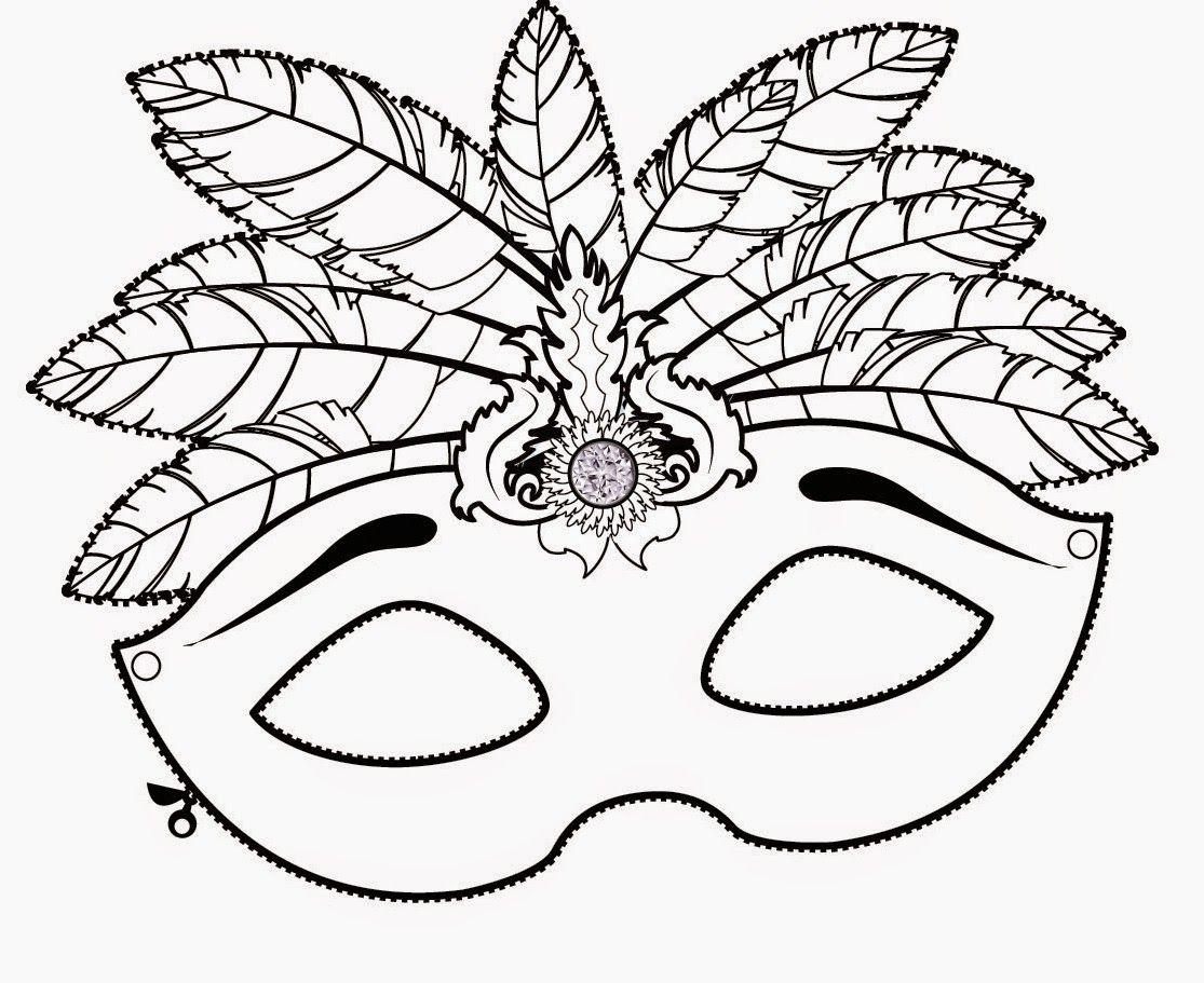 M scaras de carnaval para colorir ensinar aprender - Mascaras para carnaval ...