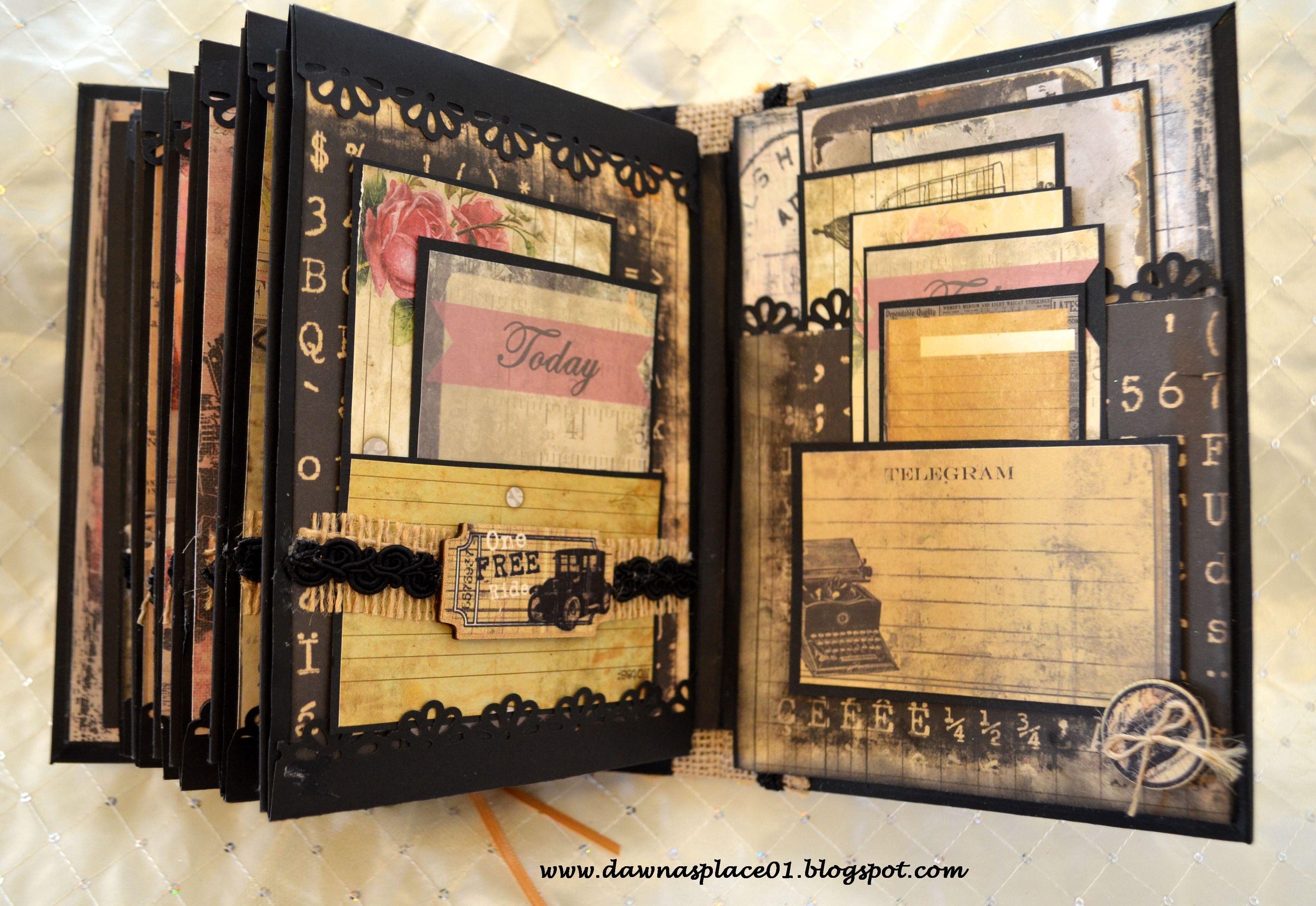 Scrapbook paper envelope - Romantic Vintage Parisian Inspired Envelope Mini Album