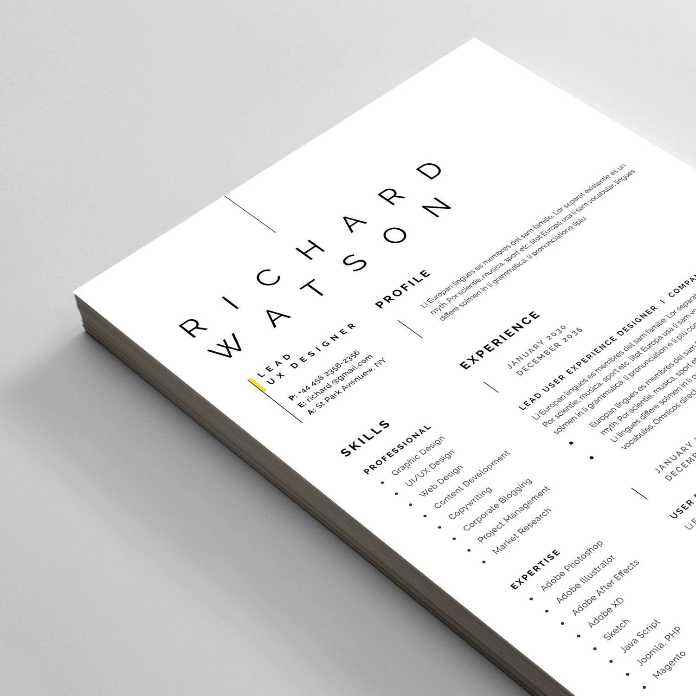 Resume/CV , AFF, Ad