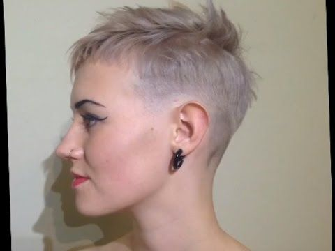 a bald fade for girls  super short hair short hair