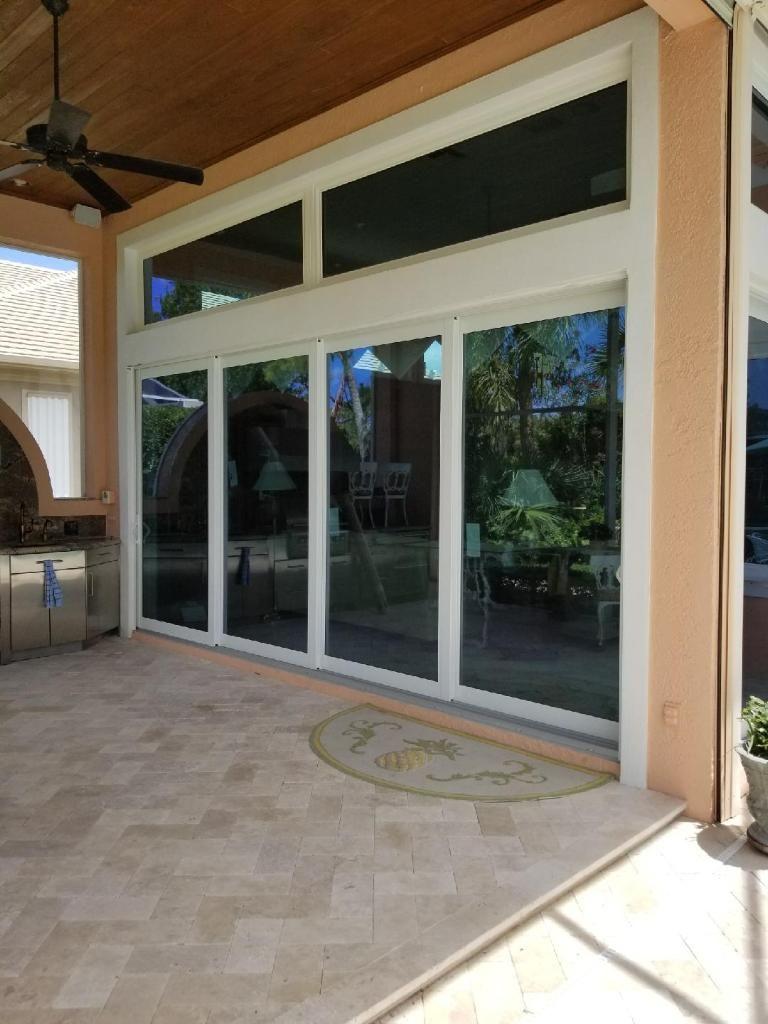 Pgt Vinyl Impact Sliding Glass Doors With Transoms Window Photos