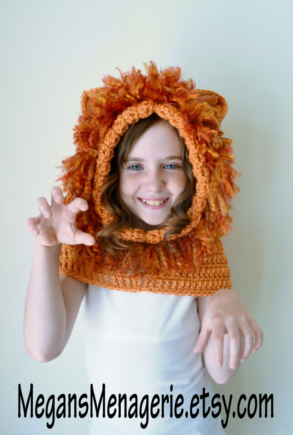 Lion Hat - Lion Hoodie - Lion Cowl - Animal Hat - Hooded Scarf ...