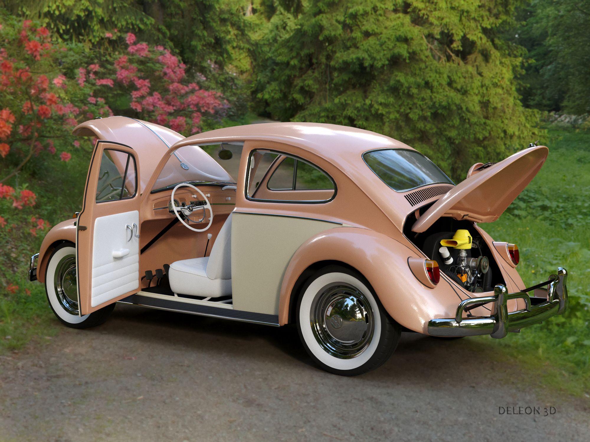 Volkswagen Beetle Fusca 1969 3d Model Flatpyramid In 2020 Volkswagen Beetle Vw Beetle Classic Volkswagen Routan