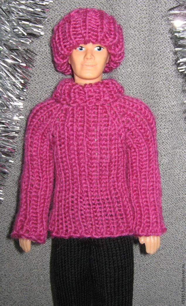 Вяжем свитерок для куклы Кен, тильдочек, интерьерных и текстильных кукол - Ярмарка Мастеров - ручная работа, handmade