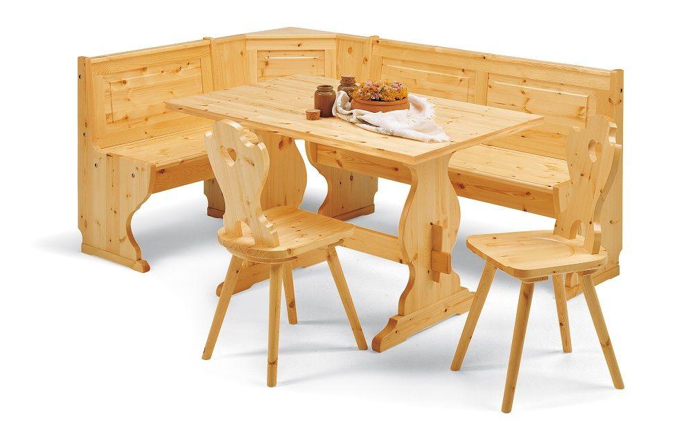 Produzione Sedie E Tavoli In Legno.Giropanca Con Contenitore Tavolo Da Cm 130 X 80 E Sedia Curva A