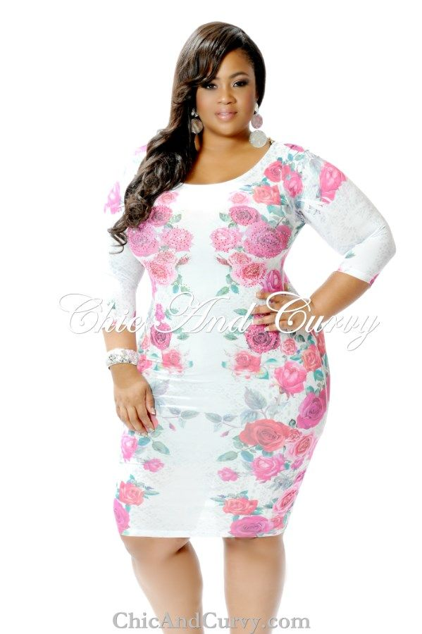 401f1bbbe9 New Arrival New Plus Size Chic and Curvy Exclusive Rose Stone Embellished  Bodycon Dress available at