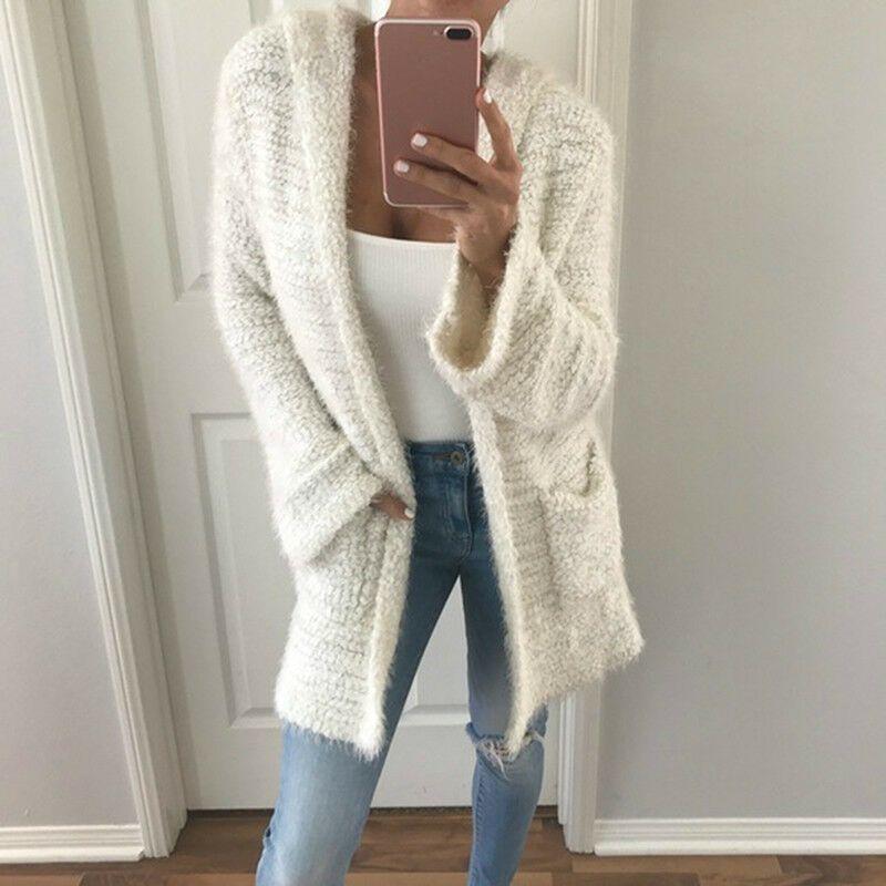 ea3c987e1827d Women Autumn Winter Hooded Cardigan Warm Velvet Sweater Outwear Tops shan   fashion  clothing  shoes  accessories  womensclothing  sweaters (ebay link)
