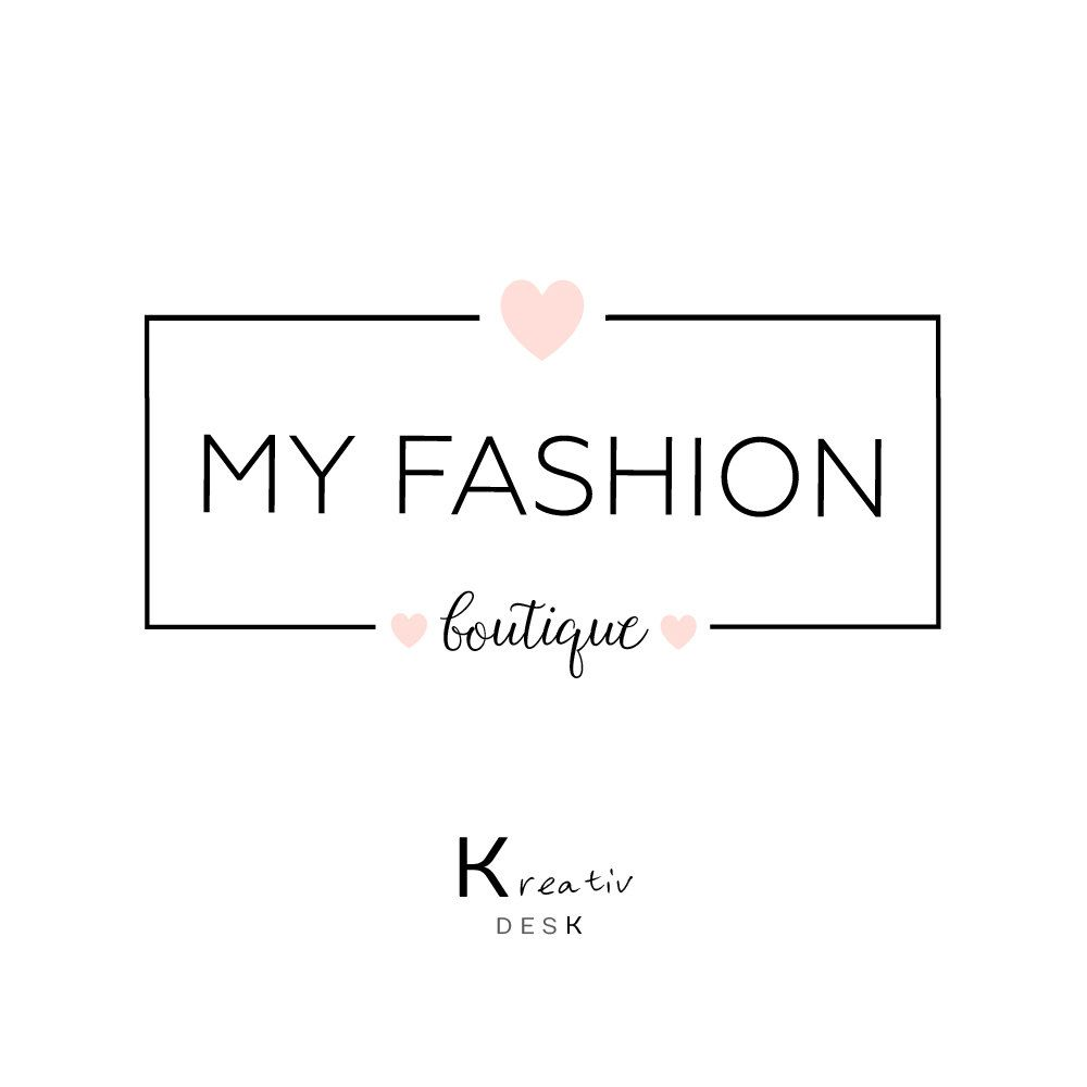 Boutique Logo. Shop Logo. Premade Logo Design. Business Logo. Heart Logo. Cute Logo. Fashion Logo. Simple Logo Design. Watermark Brand. by KreativDesk on Etsy