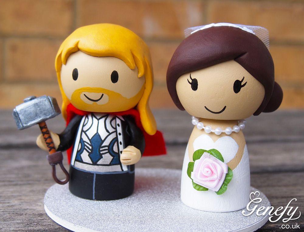 Cute THOR Wedding Cake Topper By GenefyPlayground Facebook