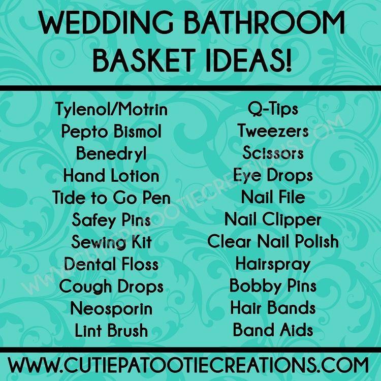 bathroom basket ideas for weddings