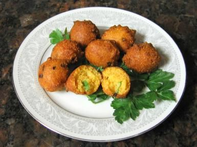 Whip Up A Batch Of Deep Fried Southern Hush Puppies With Green Onion Recipe Hush Puppies Recipe Recipes Deep Fried