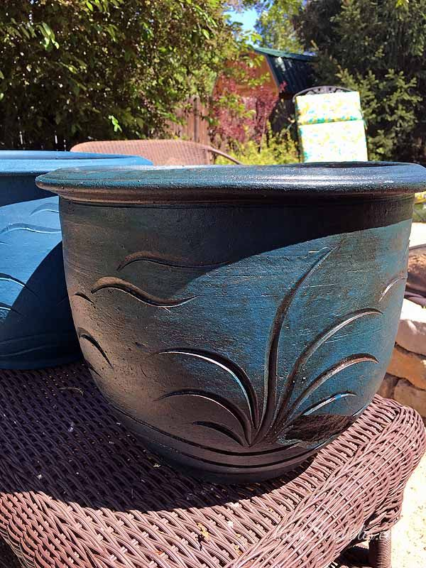 super easy clay pot makeoever, chalk paint, gardening, home maintenance repairs, how to, outdoor living