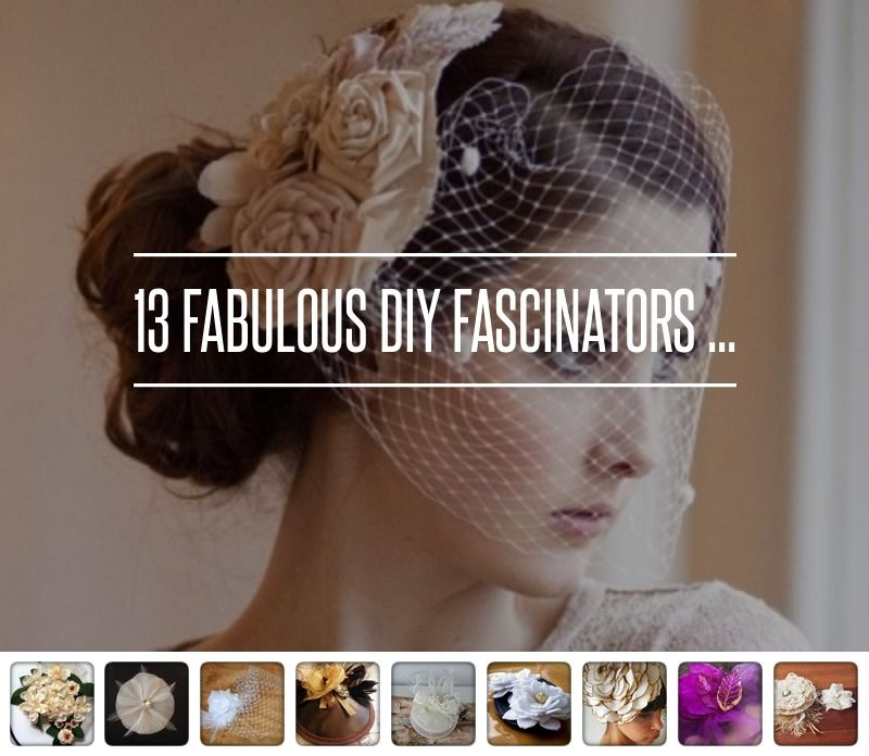 13 #Fabulous DIY Fascinators ... → Hair #Fabric