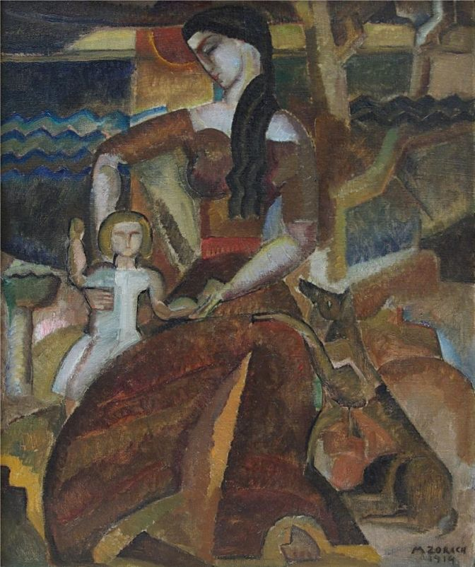 Mother and Child, 1919 - oil on canvas  Marguerite Thompson Zorach (1887–1968)