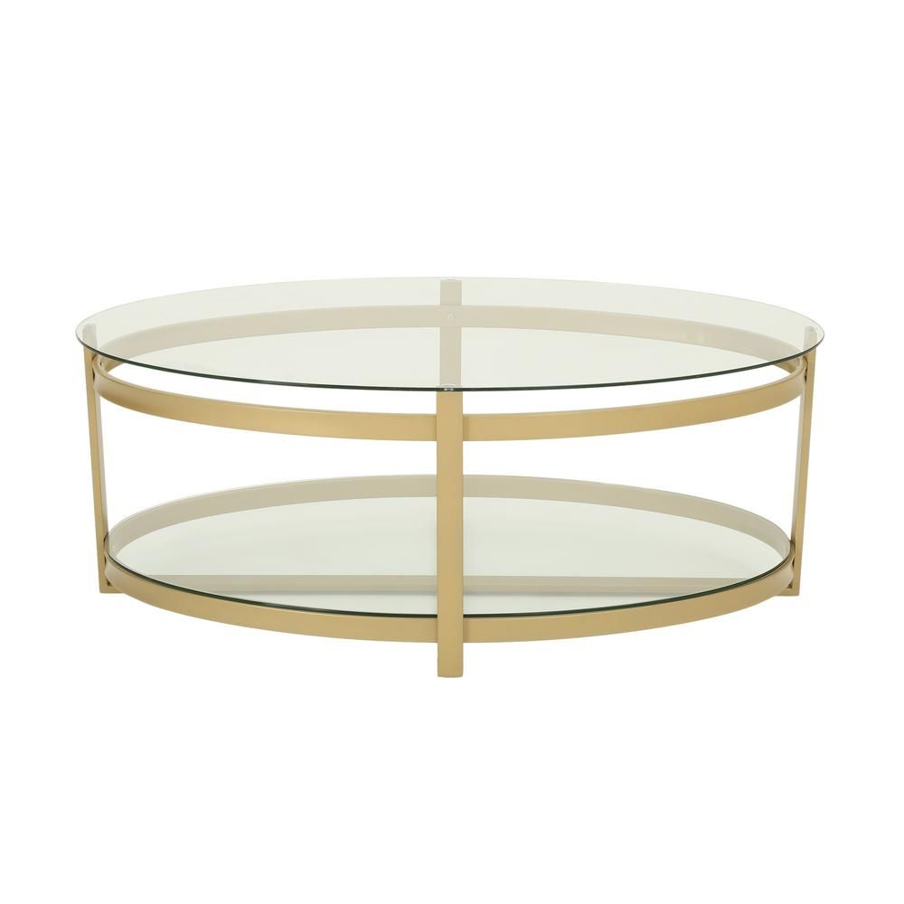 Noble House Plumeria 44 In Clear Brass Large Oval Tempered Glass Coffee Table With Iron Frame 53407 The Home Depot Coffee Table Brass Coffee Table Living Room Rectangle Coffee Table Wood [ 1000 x 1000 Pixel ]
