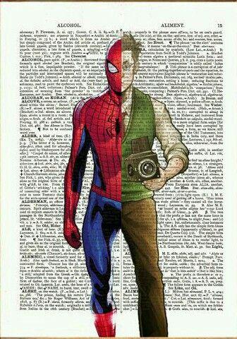 Spiderman dictionary art