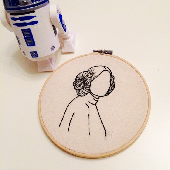 Princess Leia Embroidery Hoop | Embroidery wall | Pinterest ...