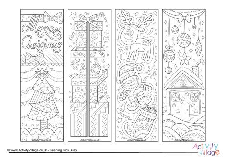 Christmas Doodle Colouring Bookmarks Coloring Bookmarks Christmas Bookmarks Christmas Doodles